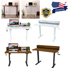 47 Height Adjustable Pc Electric Standing Metal Desk For Home Office Study Us