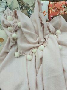 Laura Ashley Pink Acrylic Throw 64x94inch