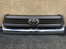 2014 2015 Toyota Tundra Front Grille  Gray w/ Chrome Molding 531000C300