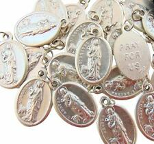 "Set of 10 St Agatha Medals 3/4"" Metal Catholic Saint Bulk Lot Gift from Italy"