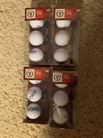 4 3Pack Of Brand New Fore Golf Balls Stocking Stuffer & 2 Tees In Each Box Cvs