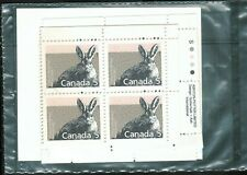 Canada sc#1158 Mammal : Varying Hare, Match Set Imprint Block, Mint-Nh
