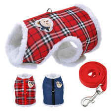 Small Dog Harness Vest Fleece Padded Clothes for Pet Puppy Cat Chihuahua Yorkie