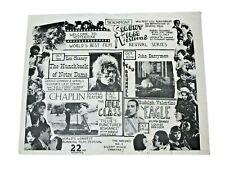 Vtg 50s 60s Beachmont Silent Film Festival Vfw Revere Ma The General Sunrise