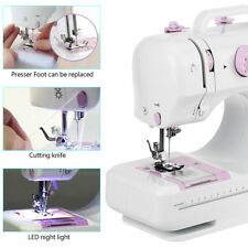 12 Stitches Electric Overlock Sewing Machine LED Double Speed Household Sewing