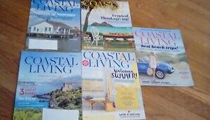 Coastal Living Magazine Lot of 5 Magazines 2016 2018
