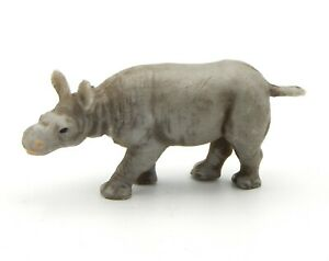 Hauser Elastolin, Young Rhinoceros 54mm, Of Zoo, The Savannah, Subject 'Vintage'