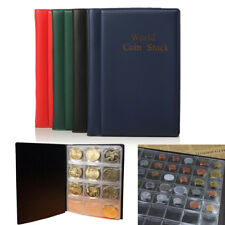 120 Cases Album Pièces Monnaie Médaille Classeur Housse Etui Poche Collection NF