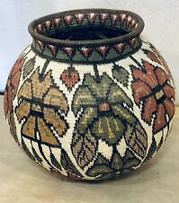 Vintage Darien Rainforst Butterfly Woven Wouanna Embers Indians Panama Basket