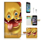iPhone 8 Flip Wallet Case Cover P0368 Funny Face