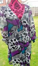 MULTI PRINT TUNIC SIZE 20 PRE LOVED