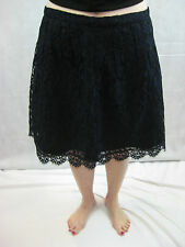 J Crew Size 6 Navy and Black Lace Skirt