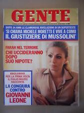 GENTE n°51 1979 Farah Diba Isabella Biagini Fascismo Mussolini  [C38]