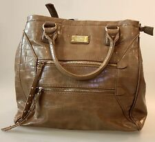 NINE WEST Original Tote women bag new dark beige two 1 long handles   FREE GIFT