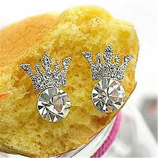 Very cute crystal crown charm earrings