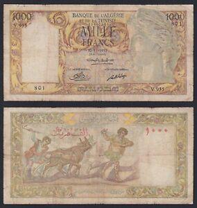 Algeria 1000 francs 1950 MB/F  B-07