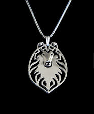 Collie Pendant Necklace Silver ANIMAL RESCUE DONATION