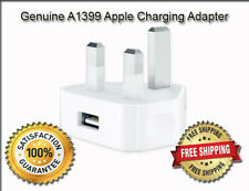 Genuine Apple iPhone 5, 5c, 5s & 5se UK AC Mains Plug Wall Adapter USB Charger