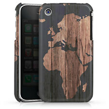 Apple iPhone 3Gs Premium Case Hülle Cover - Wooden World Map