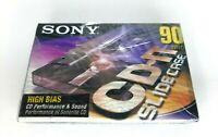 SONY High Bias Blank Audio Cassette Tapes CD-IT Slide Case 90 Min SEALED