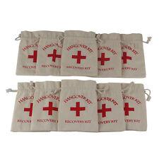 10PCS Muslin Hangover Kit Gift Bag  4''x5.5'' Bachelorette Party Wedding Favors
