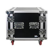 10 Space Pro Audio Dj Road Rack Case with Casters - 10U Pro Tour Grade Case