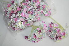 Forget Me Not Mulberry Paper Flowers Multicoloured Pack of 12 Bunches