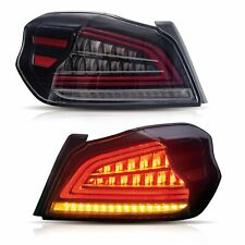 Customized CLEAR LED Tail Lights Sequential Turn Sig for 15-19 Subaru WRX / STI