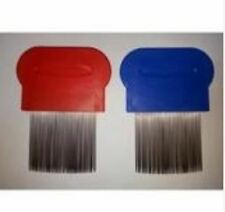 Removes Lice Dandruff Hair Comb Magic Suyod Set of 2 - RED/ROYAL BLUE