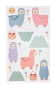 Llama Wall Stickers Decoration Nursery Bedroom Scene Children Decor Gift Kids UK