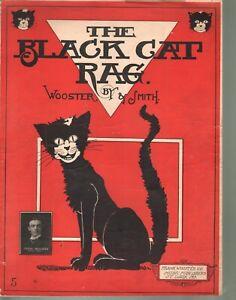 Black Cat Rag 1905 Large Format Sheet Music