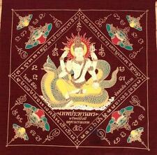 Magic Pha Yan Amulets L.P Thai Buddha Phar Rahu Yantra Ganesha Pra yant Brahma