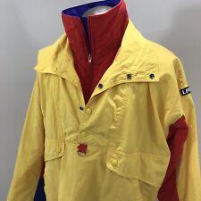 Lifa By Fletcher Color Block Pullover Half Zipper Snap Button Mens Large Jacket