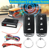 Universal Car Alarm Security System Door Lock Central Keyless Entry With  ✔