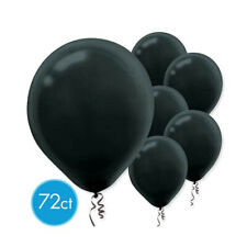 Black Solid Color Latex Balloons - Packaged, 72ct - Halloween Party Decorations
