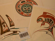 LOT 3 CARTE de VOEUX design ART Salmon Danny Dennis Card Tsimshian Chimmesyan
