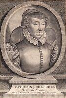 Portrait XVIIIe Catherine de Médicis Caterina de' Medici Firenze Reine de France