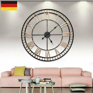 Modern Wanduhr Römische Zahlen Quarzuhr Ø 80 cm Vintage Antik Design XXL Clock