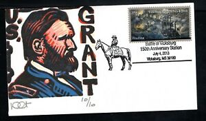 2013 Sc #4787 Civil War - 1863 - Battle of Vicksburg MS cover by Dave Curtis