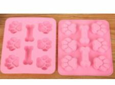 NEW  PAW PRINT AND BONE THEME SILICONE MOULD (1)
