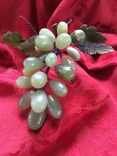 Flawless Exceptional Green Large Grape Cluster Stone Marble Alabaster Jade Vine
