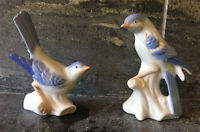 Vtg SET 2Pc Pair LEGO JAPAN Blue Bird Figurines PRISTINE CONDITION