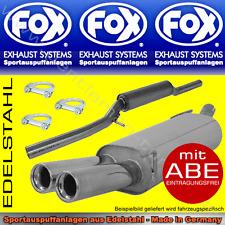 FOX ANLAGE AUSPUFF VW BUS T4 KURZ 2x80 1.9l 2.0l 2.5l 2.8l 1.9l DTD 2.4l D