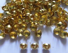 100 pcs Gold Tone Cone  Stud spot spike for apparel - size 10 mm