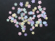200 DIE PUNCHED SMALL FLOWERS MIXED PASTEL CARD MAKING AND CRAFTS