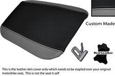 Gris Y Negro Custom encaja Cagiva Mito 125 95-07 Trasera de piel cubierta de asiento
