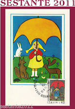 ITALIA MAXIMUM MAXI CARD 1976 SALVIAMO LA NATURA SCUOLA MEDIA ESOPO ROMA (138)