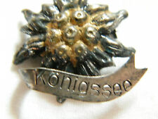 Beautiful Brooch Pin Tarnished Silver Tone Touch Gold Signed Konigssee Unique