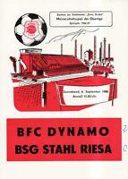 OL 86/87  BSG Stahl Riesa - BFC Dynamo Berlin