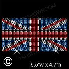 Unioin jack-uk-british drapeau strass hotfix Transfert Fer Sur Motif + cadeau gratuit